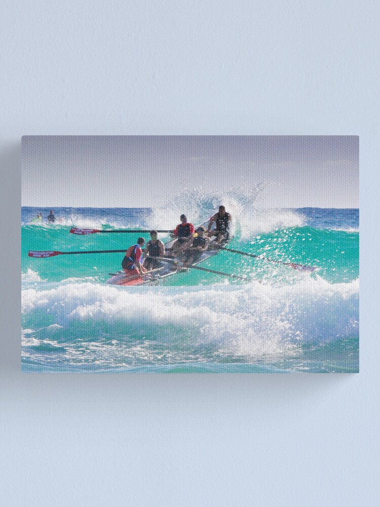 Alternate view of Surfboat at Narooma Beach Canvas Print