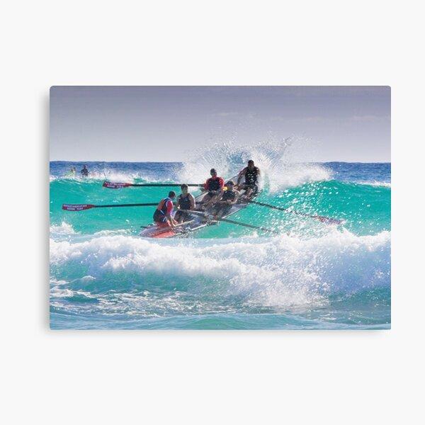 Surfboat at Narooma Beach Canvas Print
