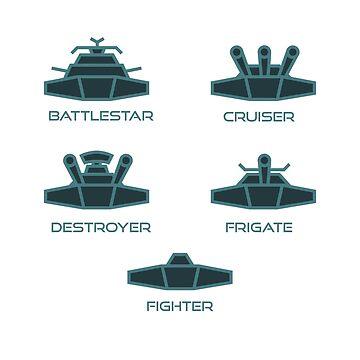 Scifi Ship Symbols - White by Randy8560