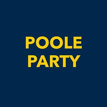 Poole Party Michigan Basketball Jersey T-shirt by ravishdesigns