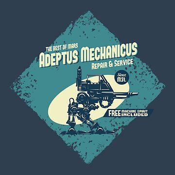 Adeptus Mechanicus - Sentinel - Blue by moombax