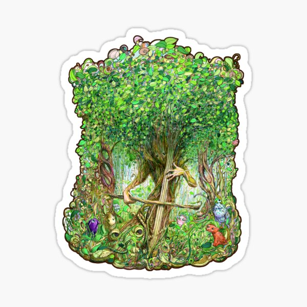Forest Music in Color Sticker
