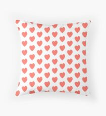 HEARTFELT IN LIVING CORAL -PANTONE COLOR OF THE YEAR 2019 Throw Pillow