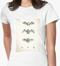 Bats of Egypt Vintage Drawings Women's Fitted T-Shirt