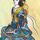Sitzende Geisha von kennasato