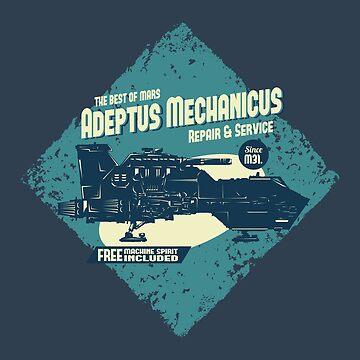 Adeptus Mechanicus - Thunderhawk - Blue by moombax