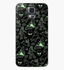 Cryptid Pattern (Green Lines) -   Case/Skin for Samsung Galaxy