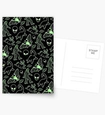 Cryptid Pattern (Green Lines) -   Postcards