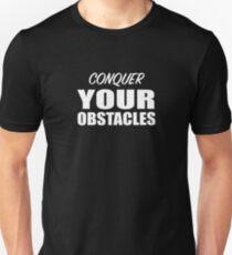 Erobere dein Hindernis-Motivgeschenk Slim Fit T-Shirt