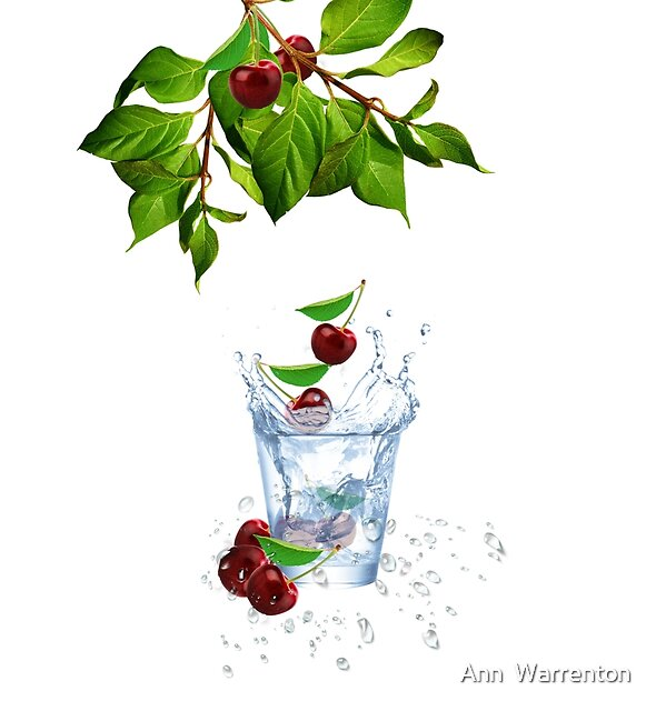 Cherry Splash! by Ann  Warrenton