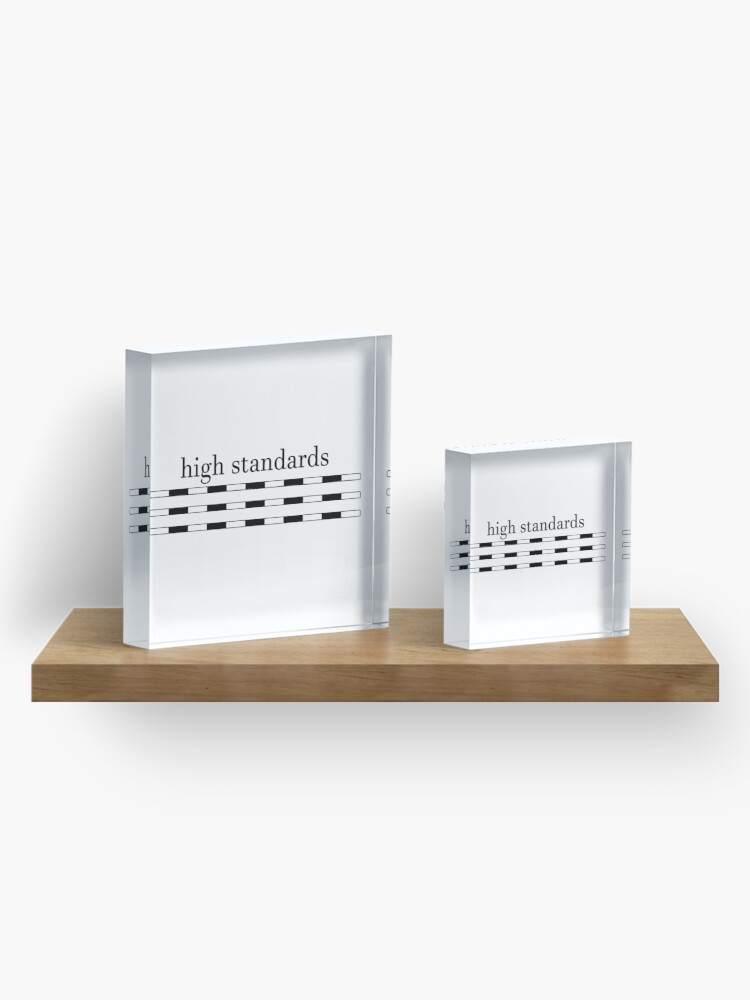 Alternate view of High Standards Acrylic Block