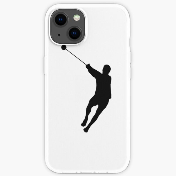 Hammer Throwing Silhouette (Hammer Throw) iPhone Soft Case