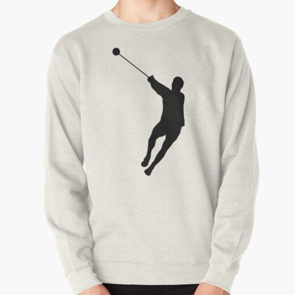 Hammer Throwing Silhouette (Hammer Throw) Pullover Sweatshirt