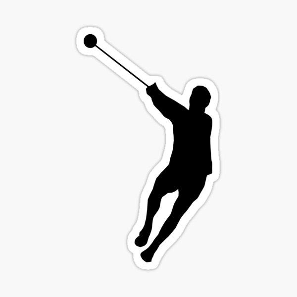 Hammer Throwing Silhouette (Hammer Throw) Sticker