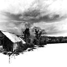 High Key Snow Barn by Richard Horsfield