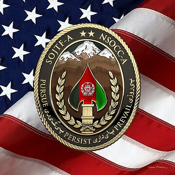 Special Operations Joint Task Force - Afghanistan -  NSOCC-A/SOJTF-A Patch over American Flag by Captain7