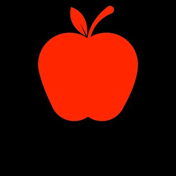 Just an Apple with a red Color Fruit lover by we1000