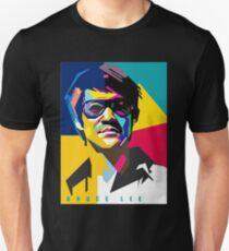 Camiseta unisex Bruce Lee arte colorido