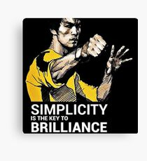 Simplicity is the key to Brilliance Bruce Lee Quote Canvas Print