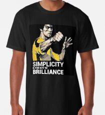 Einfachheit ist der Schlüssel zu Brilliance Bruce Lee Zitat Longshirt
