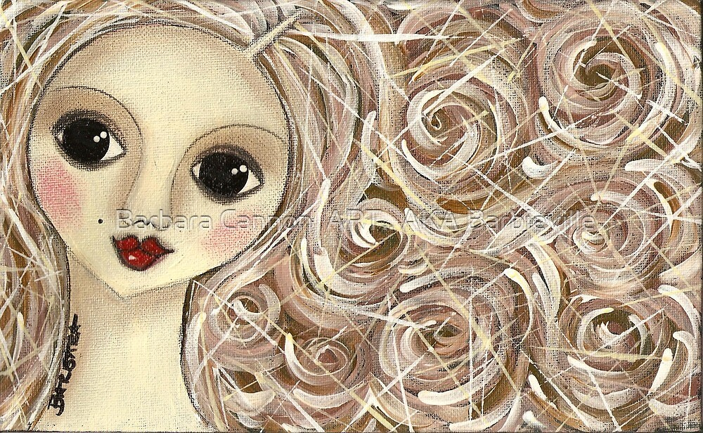 Brownhair doll by Barbara Cannon  ART.. AKA Barbieville