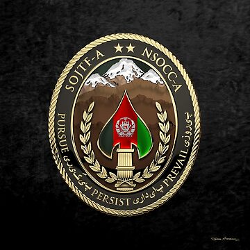 Special Operations Joint Task Force - Afghanistan -  NSOCC-A/SOJTF-A Patch over Black Velvet by Captain7