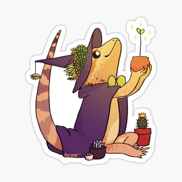 Bearded Dragon - Charlie (flipped) Sticker