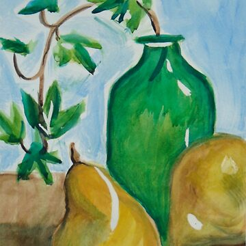 Green Bottle with Pears by lorgh