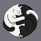 Yin Yang Cats by Mary Capaldi