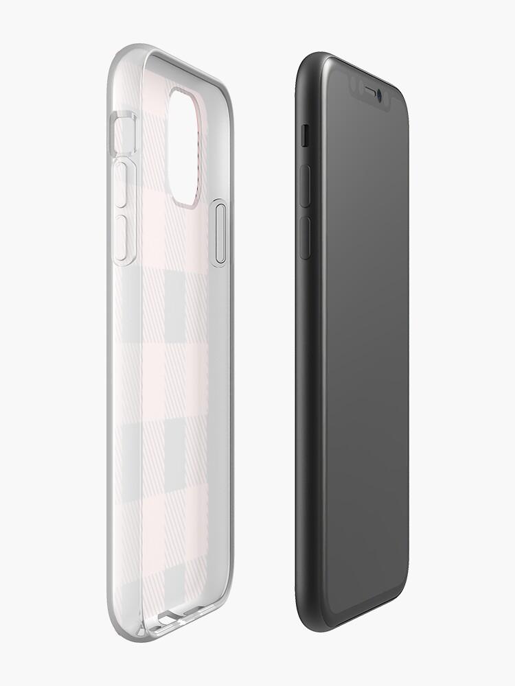 Coque iPhone «Plaid de Buffalo - Rose Saumon», par altizzy