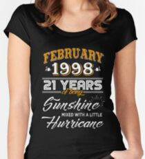 21st Birthday Gifts - 21st Wedding Anniversary Memorable Gifts - February 1998 Women's Fitted Scoop T-Shirt