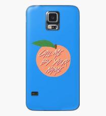 Rufen Sie mich bei Ihrem Namen Peach an Hülle & Klebefolie für Samsung Galaxy