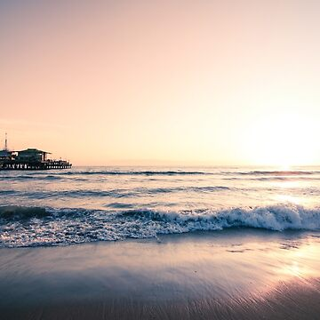 Santa Monica Sunset by CaliforniaPhoto