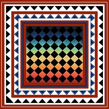 geometric rainbow tribe by Yanwun