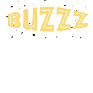 Buzz Bumble Bees in Black and Yellow T-Shirts, Mugs, Phone Case, Pillows, Tote Bag by TheKitch