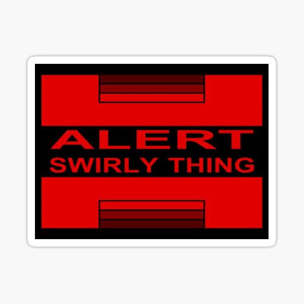 Swirly Thing Alert Sticker
