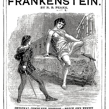Frankenstein Mary Shelley Play Poster by buythebook86