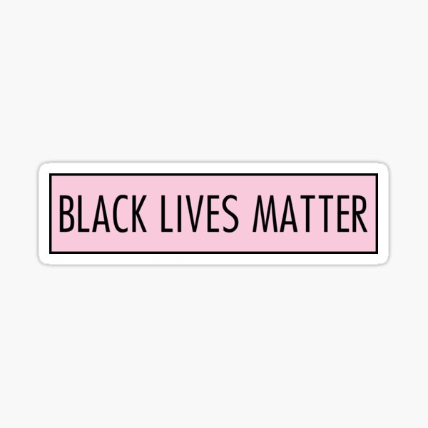 black lives matter pink Sticker