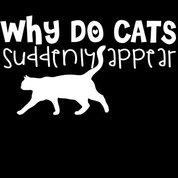 Why Do Cats Suddenly Appear by jzelazny