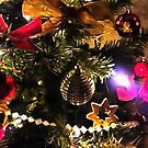 Bows Stars and Baubles Decorated Tree by taiche