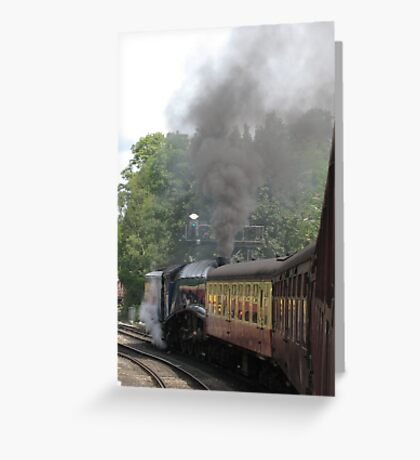 North Yorkshire Railway - Leaving Pickering Greeting Card