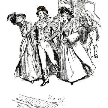 Sense and Sensibility Jane Austen A Very Smart Beau Illustration by buythebook86