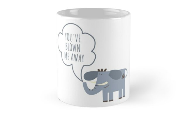 blow me away - Valentine's day mug