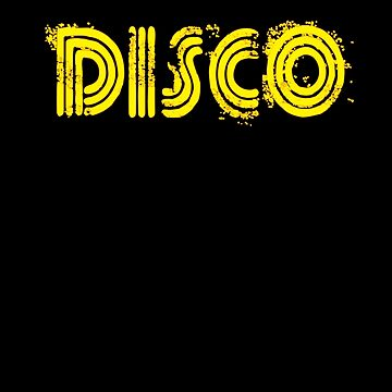 Disco Neon Lights Text 1970s Disco Funk Vintage Retro Funky by zot717