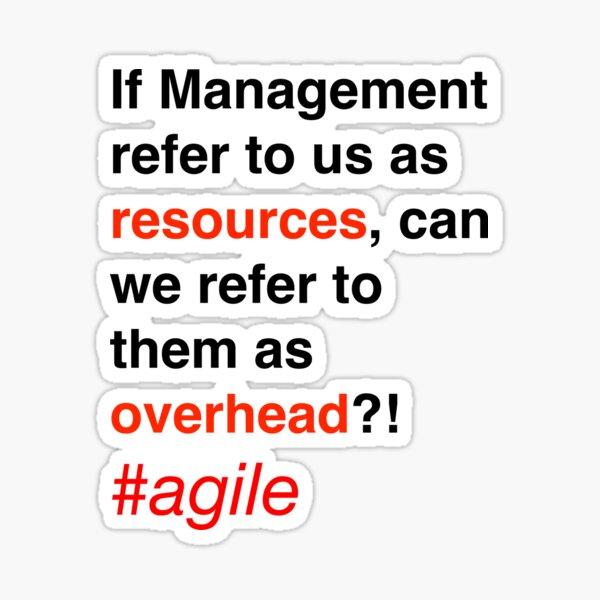 Management Overhead Sticker