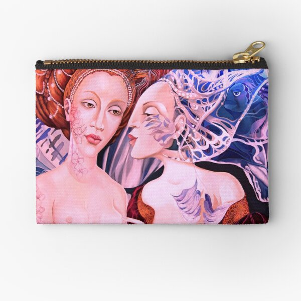 The Two Ladies- Winter and Autumn Zipper Pouch