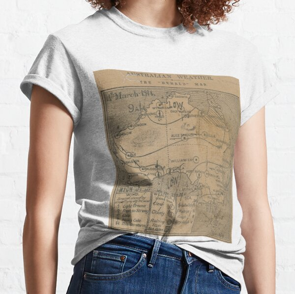 Australian Weather Map 4 March 1914 Classic T-Shirt