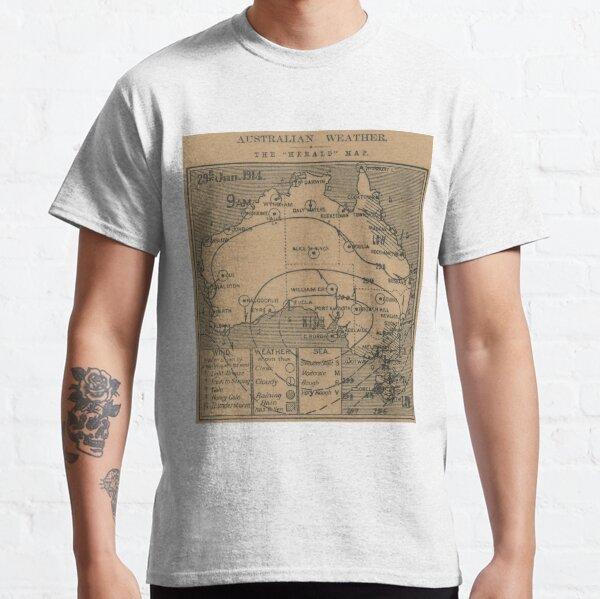 Australian Weather Map 29 June 1914 Classic T-Shirt