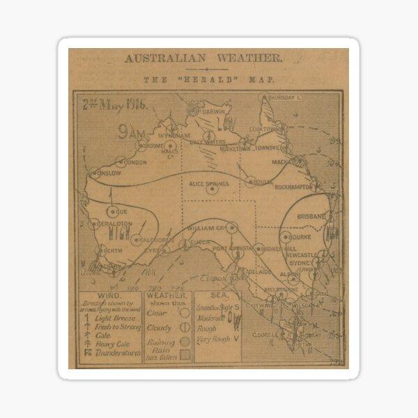 Australian Weather Map 2  May 1916 Sticker