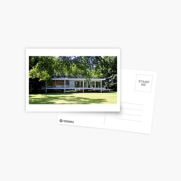 Mies van der Rohe Farnsworth House Postcard